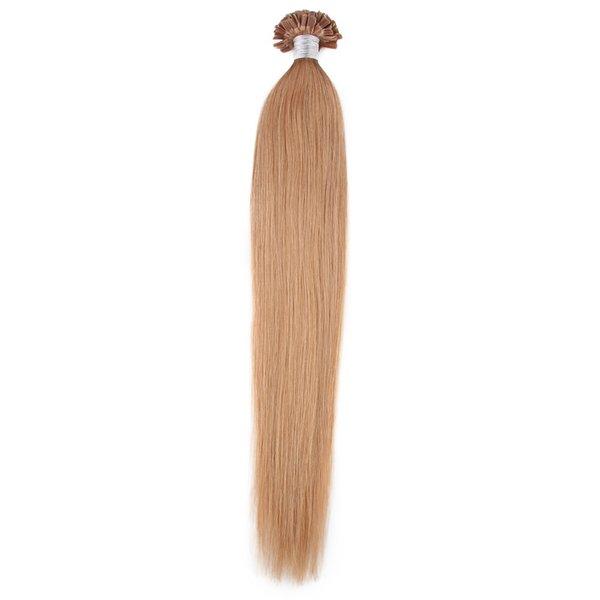 Brazilian virgin hair Straight U-Tip Hair Extensions Human Strands Nail Tip Pre-bonded HairS Extensions Indian Human Virgin Hair STOCK