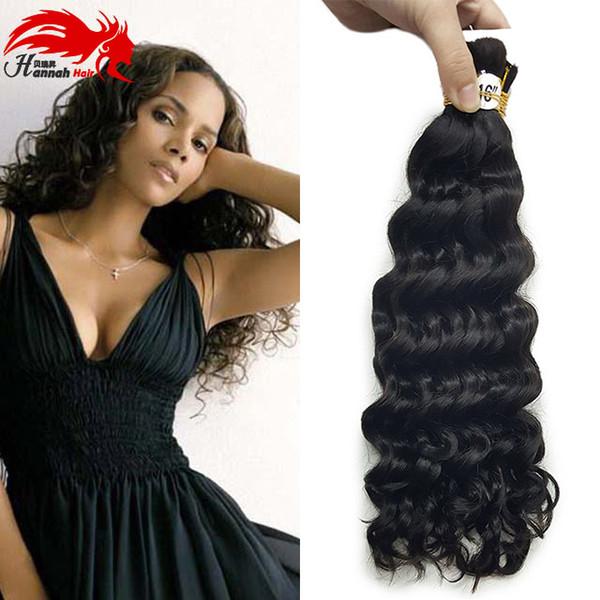 Bulk Hair For Braiding Bulk Human Remy Hair Deep Curly Wave For Braiding Bulk No Attachment 3pieces 150gram Human Hair Bulks