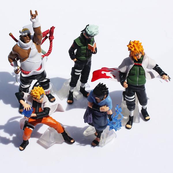 5 Unids / set Naruto Figura de Acción Juguetes Clásicos Cool Naruto Kakashi Sasuke Uzumaki Figura Anime Modelo Para Bebé Niños Wj434