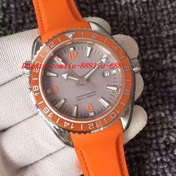 Luxury Wristwatch Ocean 9900 Movement 46mm Black Orange Mens Watch 232.30.46.21.01.003 Leather Bracelet Mechanical Men Watche