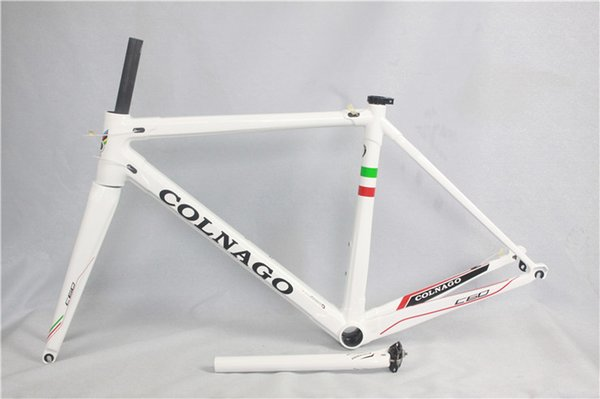 700C ROAD BIKE Colnago 3K T1000, SCHWARZ / weiß / rot / grün GLÄNZENDEN Carbon Rennrad, Rennrad Rahmen,