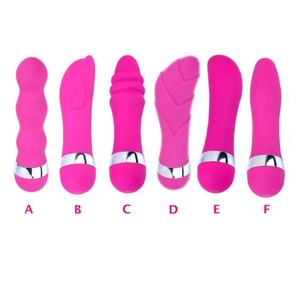 Nova Chegada 6 Estilo Poderoso Rosa-vermelho Vibrando G-Spot Vibrador Massageador Vibrador Vibe Sex Toys Para Mulheres Multi- Speed