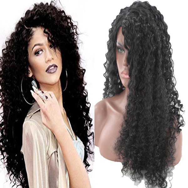 Women S Cosplay Wigs Cos Wigs Glod Long Curly Hair Black Curls Wavy Hair High Temperature Wire Multicolor Hair Anime For Party Club Night Synthetic