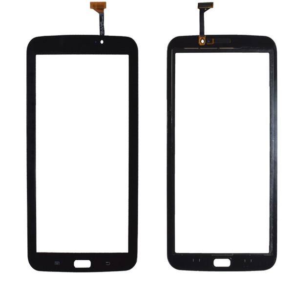 Lente de cristal digitalizador de pantalla táctil 50PCS con cinta para Samsung Galaxy Tab 3 7.0 T210 T211 DHL gratis