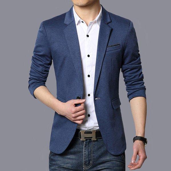 Herren Herbst Anzüge Jacke Für Männer Einfarbig Blazer Männer Mode Slim Fit Man Jacke