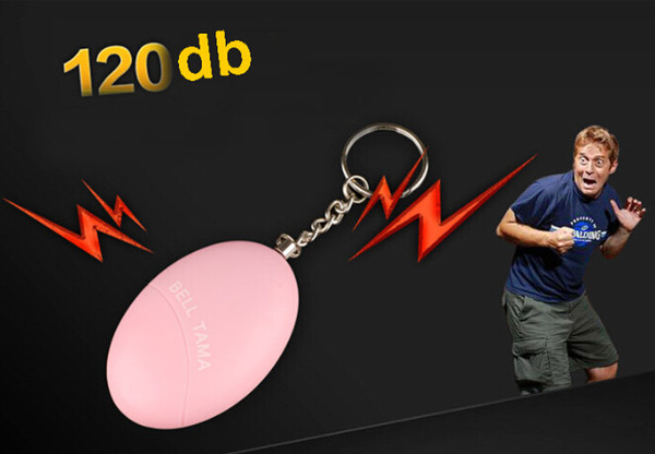 Allarmi personali Bell Tama Forte sicuro Stabile 120 Decibel Mini Portachiavi portatile Allarme Sicuro Calcio Panico Anti-colza Attacco Sicurezza Sicurezza