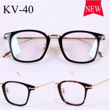 2017 gold glass frame VINTAGE frames KV-40 male retro super light myopia flat using the new framework