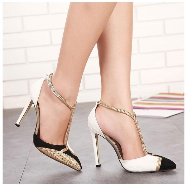 2018 New Luxury Champagne Color Rhinestone Fashion High Heels Sandals Wedding Bridemaid Stiletto Heel Dress Shoes Green Shoes Boots Shoes From