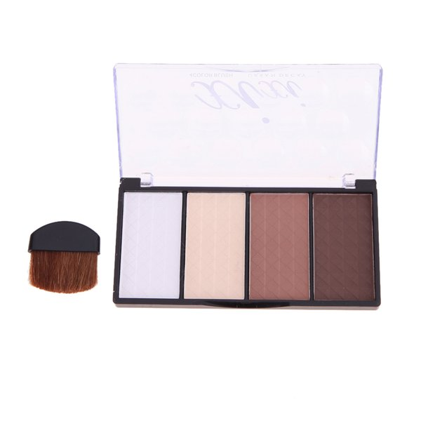 Wholesale- Four Color Pressed Cosmetic Face Powder Highlight Contour Shading Pressed Powder Shading Cosmetic Makeup GUB#