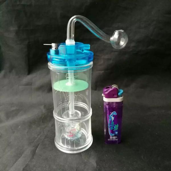 Accesorios de bambú del bongs de la cachimba de bambú, accesorios al por mayor de los bongs de cristal, cachimba de cristal, humo de la pipa de agua que envía libremente