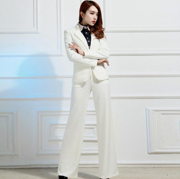 Rushed Full Pantalones Mujer Women Suit Set New Bussiness Formal Elegant Jacket And Pants Office Suits Ladies Ol Two-piece (Jacket+Pants)