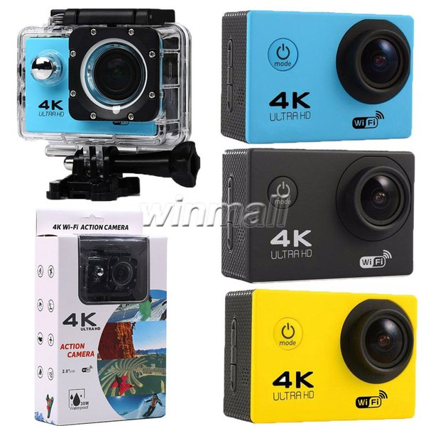 best selling Cheapest 4K Sport Action Camera F60 WIFI Waterproof Video Camera 16MP 12MP 1080P 60FPS 2.0 Inch LCD Helmet Cam Diving Recorder