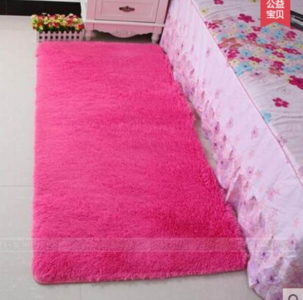 Free shipping gloria material bay window rugs bedside bedroom floor mat indoor living room carpet tea table candy colors tapis shaggy