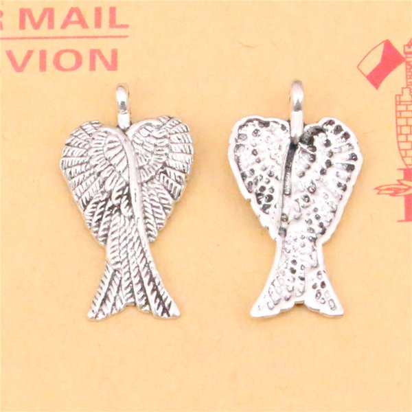 83pcs Tibetan Silver Plated angel wings Charms Pendants for Jewelry Making DIY Handmade Craft 27*15mm