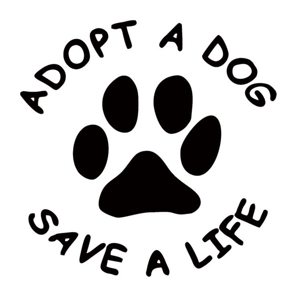Hot Products For Adopt A Dog Save A Life Vinyl Decal Car Sticker Dog Paw Sticker Removable Truck Decals Cute