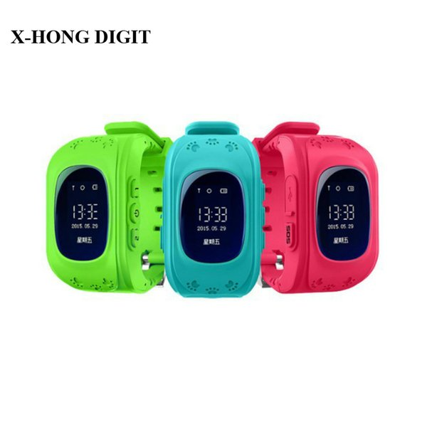 Wholesale- Smart Phone Watch Kid Wristwatch Children Anti Lost GPS Tracker Watch For Kids SOS GSM Mobile Phone Smartwatch For IOS Android