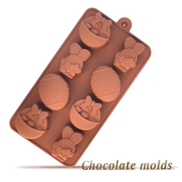 Cioccolato Coniglio Stampi Pasqua Cartoon Uovo cottura del ...