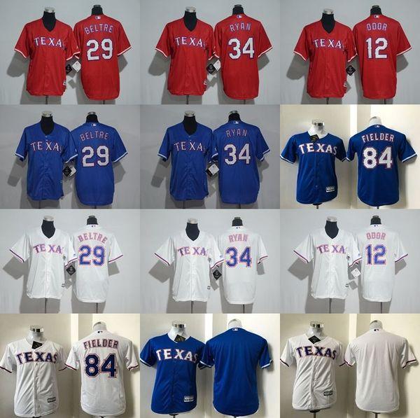 Kids Texas Rangers jerseys Youth s Baseball jerseys RYAN 34 BELTRE 29  ODOR 12 8a6712946