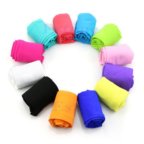 Wholesale- Girls Kids Children Winter Warm Velvet Leggings Solid Candy Color Pants Trousers