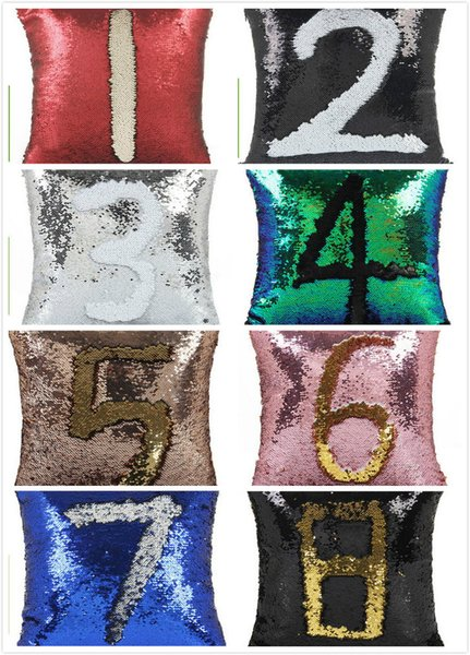best selling DHL Sequins Pillow Case Sequin Cushion Mermaid Magic Rainbow Reversible Pillow Cover Sofa Bright Glitter Car Cushion Home Decorative