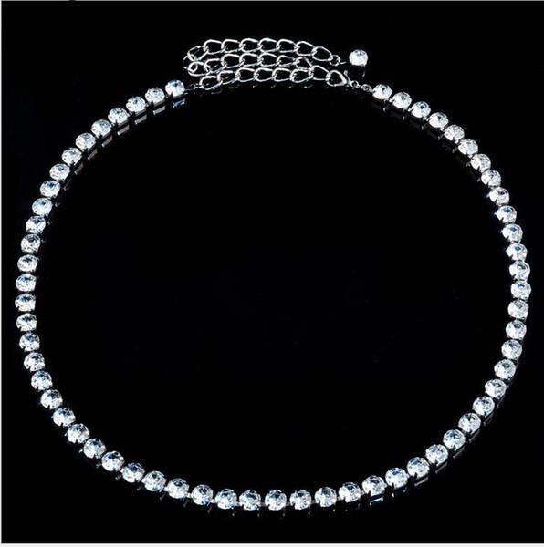 20pcs Fashion crystal belt Belly Single Row Rhinestone Belt Wedding PARTY Brides Thin Waist close accessories Belts F373