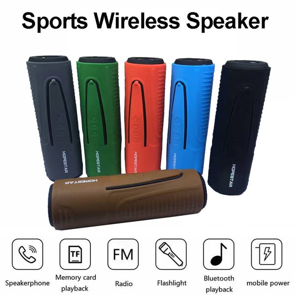 Outdoor Bicycle Bluetooth Speaker Wireless Sports Speakers LED Flashlight Power Bank for Riding FM TF Music Player Super Base P3 Soundbar