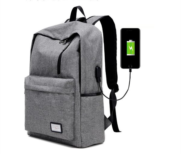 New Design USB Charging Men's Backpacks Male Casual Travel women Teenagers Student School Bags Simple Notebook Laptop designer backpacks