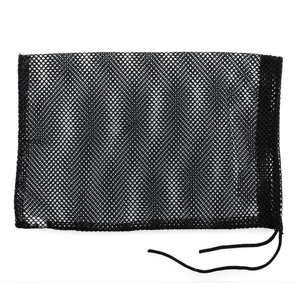 top popular Wholesale- Black Nylon Mesh Bag Pouch Golf Tennis 48 Balls Carrying Holder Hold Ball Storage Training Aid Durable 2019