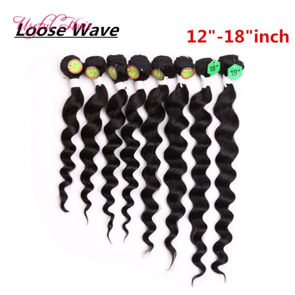12-18inch loose wave black