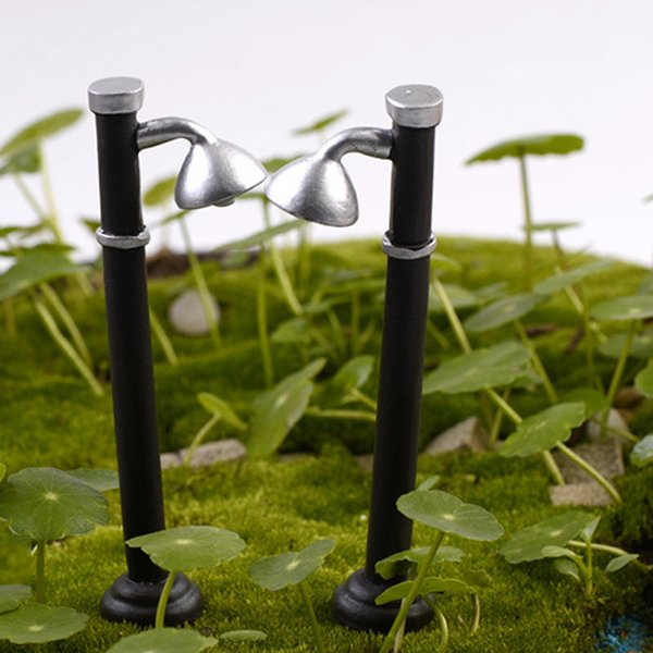 5pcs Street Lights Lamps Figurines Resin Crafts Fairy Garden Miniatures Bonsai Tool terrarium Dollhouse Jardin Gnomes Home Decor Accessories