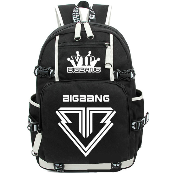 Bigbang backpack Dance band daypack Hot sale schoolbag Music rucksack Sport school bag Outdoor day pack