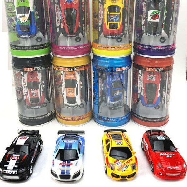 1:63 Mini-Racer Remote Control Car Coke Can Mini RC Radio Remote Control Micro Racing Car Mixed Color