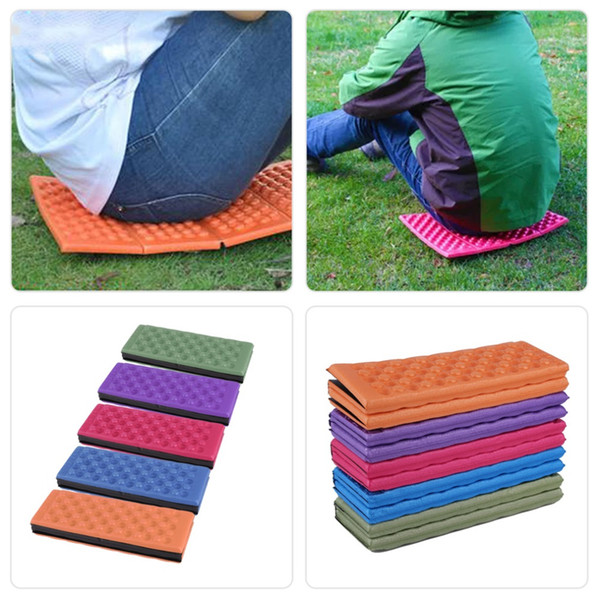 Wholesale-39*27.5*1cm Outdoor Portable Foldable EVA Foam Waterproof Garden Cushion Seat Pad Chair for outdoor Promotion