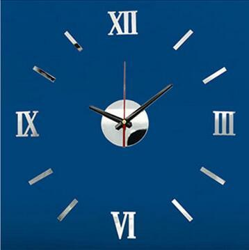 best selling New More Colors DIY Home Modern 3D Mirror Wall Clock Sticker Home Living Room Decor Hot