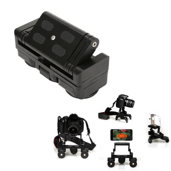 Faltbare Dreirad Kamera Schienenwagen Tischwagen Auto Video Slider Traker 1/4 '' Schraubenmontageplatte für DSLR Kamera Für Gopro