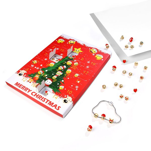Christmas Gift Sets Diy.Christmas Jewelry Calendar Gift Box Expression Package Bracelet Earrings Set Diy Gift Wholesale Christmas Gifts Christmas Presents From Vipsmall