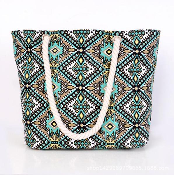2017 Girl Leisure Summer Canvas Bag Women Shoulder Bag Striped Beach Bags  Big Capacity Tote Ladies cd75086dfb0a3