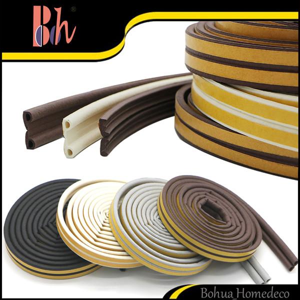 top popular Hot 2*3M (6M) Self Adhesive P I Type Doors Windows EPDM Rubber Foam Sealing Strip Draught Seal Anti-Collision Sound Insulation Windproof 2019
