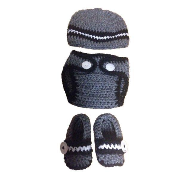 Newborn Crochet Boy Set,Handmade Crochet Baby Boy Striped Beanie Diaper Cover Loafers Set,Baby Shower Gift,Birthday Gifts,Infant Photo Props
