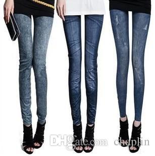 best selling 2 Colors 7 Style Casual Women Elastic Denim Pants Lady Jeans Skinny Jeggings Sexy Trousers Stretchy Slim Leggings Pants Free Size