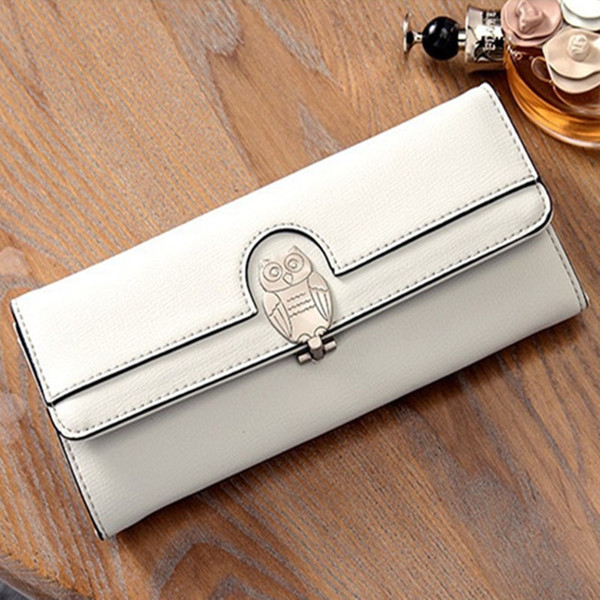 New Women Owl Clutch Bags 5 Colors PU Leather Wallets & Holders For Lady Long Wallets Gift