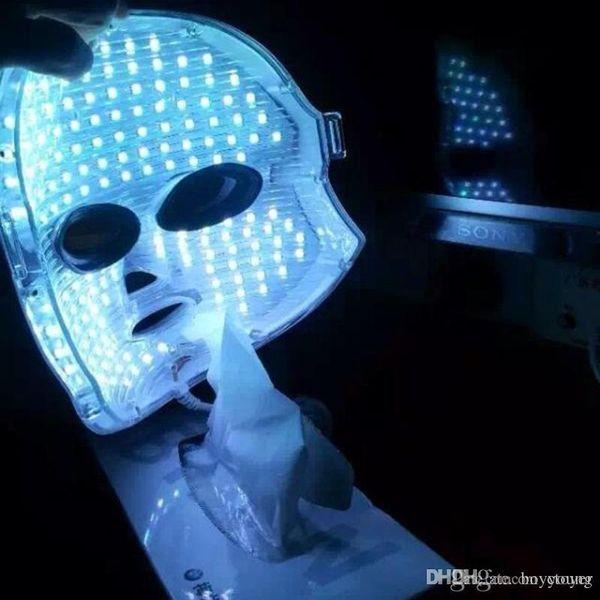 Máscara facial del LED Cuidado de la piel facial Máscara ligera del LED Instrumento de la belleza del hogar Photorejuvenation Instrumento de la fototerapia de la arruga del acné