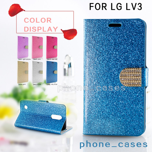 For LG Aristo Metropcs LV3 V3 MS210 K8 2017 Wallet PU Leather Crystal Rhinestone Case For Galaxy J3 Emerge Bling Phone Bag Cover