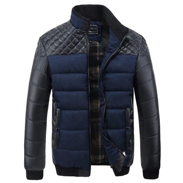 4XL, Yeni Kış Ceket Erkekler Patchwork Sıcak Kalın Palto Erkek Aşağı Pamuk Parkas Mens Termal Marka Giyim SA004