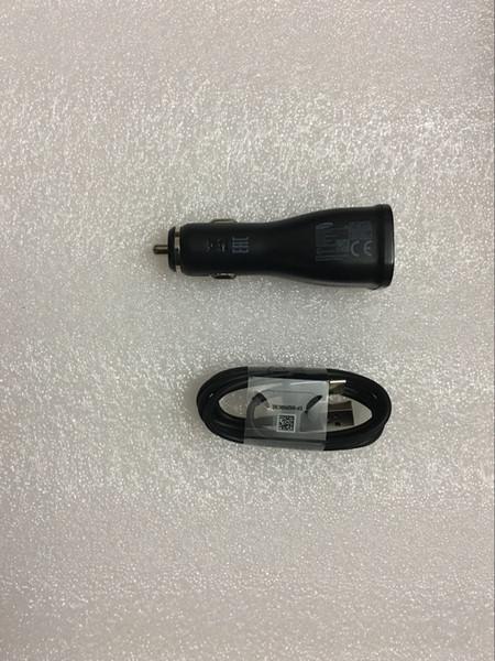 Original OEM 2 Doppel USB Autoladegerät Adapter Fast Charging + 1.2M Typ c USB Kabel für Samsung s8 s9 Mit Verpackung und Logo