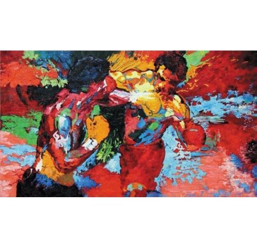 Epro enmarcado por Leroy Neiman (Rocky vs Apollo) Pintura al óleo pintada a mano del arte abstracto de la pintada, en el arte de la pared de la lona de la alta calidad tamaños múltiples