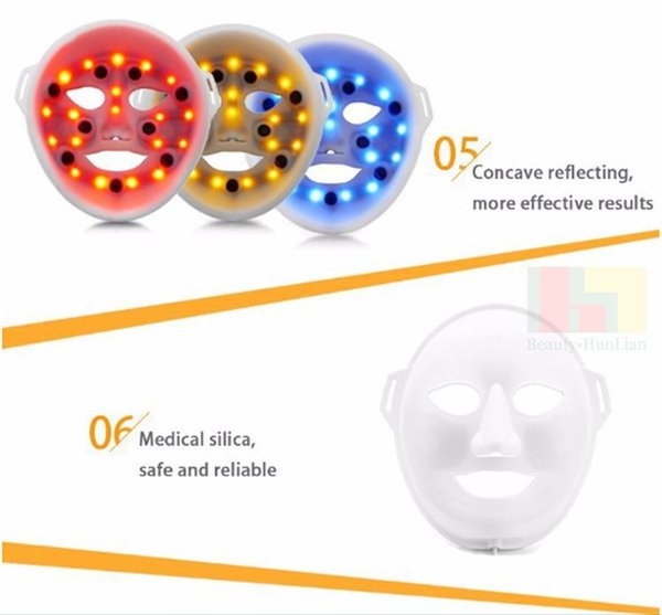 Health beauty 3D vibration massage facial mask LED Electric Facial Mask PDT Skin Rejuvenation Therapy Anti-Aging Acne Clearance