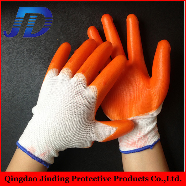 china wholesale 12 pairs of loading PVC hang half working gloves safety gloves for oil and gas