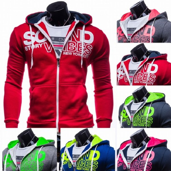 wholesale-new fashion casual letter print slim fit pullover hoodies men sportswear jacket male hooded jackets moleton assassins creed