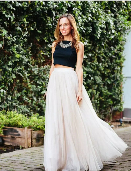 2017 Top Selling Long Length Layered Tulle Tutu Skirts For Adults A-Line Cheap Party Prom Skirts Women Clothing Cheap